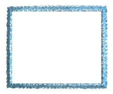 Free Ancient Blue And Silver Frame Royalty Free Stock Image - 7995216