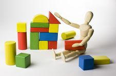 Free Wooden Toys Play Royalty Free Stock Photo - 7995325