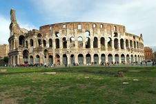 Free Colosseum With Cloudy Sky, Winter In Rome Royalty Free Stock Images - 7995349