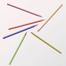 Free Colored Pencils Royalty Free Stock Photo - 7995355