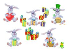 Collection Of  Rabbit To The Spring Holidays Stock Image