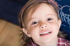 Free Joyful Little Girl With Sketched Blackboard Stock Photos - 7995443