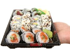 Free Sushi On Tray Royalty Free Stock Photos - 7995618