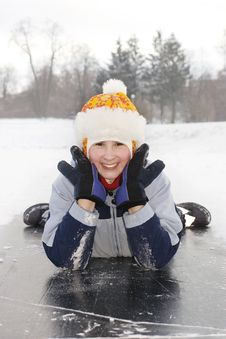 Free Girl On Ice Stock Photography - 7995792