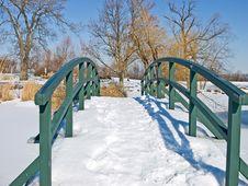 Free Snow Covered Bridge Stock Photo - 7996240