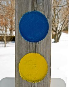 Free Blue And Yellow Circle Stock Image - 7996241