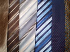 6 Different Types Of Ties Stock Image
