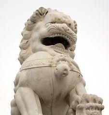 Free Chinese Style Stone Lion Stock Image - 7996581