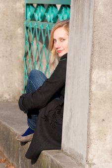 Free Girl On Bridge Stock Photos - 7996613
