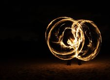 Free Fire Dancer In The Dark Royalty Free Stock Image - 7996686