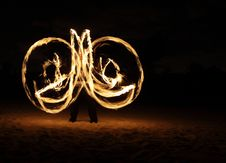 Free Fire Dancer In The Dark Royalty Free Stock Photos - 7996758