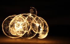 Free Fire Dancer In The Dark Royalty Free Stock Photo - 7996815
