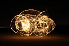 Free Fire Dancer In The Dark Stock Photos - 7996823