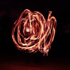 Free Fire Dancer In The Dark Royalty Free Stock Images - 7996829