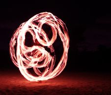 Free Fire Dancer In The Dark Stock Image - 7996851