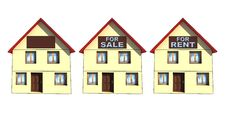 Free New Houses - For Rent/for Sale Stock Photos - 7997703