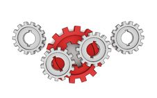 Free Isolated Cogwheels Stock Images - 7997704