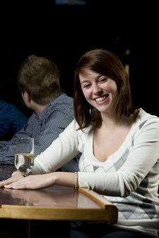 Free Young Woman At Bar Stock Photo - 7997750