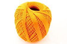 Free Orange Wool Clew Stock Image - 7997751