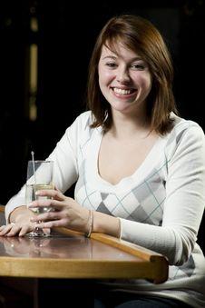 Free Young Woman At Bar Stock Photos - 7997793