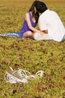 Free Loving Couple In The Outdoor Royalty Free Stock Photo - 7997835