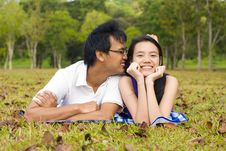 Free Loving Couple In The Outdoor Stock Image - 7997941