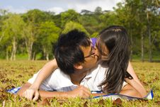 Free Loving Couple In The Outdoor Stock Photography - 7998002