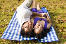 Free Loving Couple In The Outdoor Royalty Free Stock Photo - 7998045