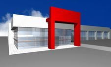 Free 3D Render Of Modern Business Center Royalty Free Stock Images - 7999019