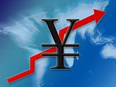 Yen Going Up Stock Photo