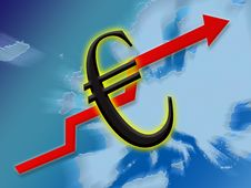 Euro Finance Up Royalty Free Stock Photo
