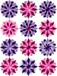 Free Set Glass Flower Stock Photos - 7999493