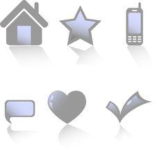 Free Beautiful Vector Web Icons Royalty Free Stock Photo - 7999985