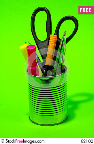 Free Pens In A Can Stock Photography - 82102