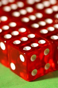Free Close-up Of Red Dices Royalty Free Stock Photos - 81138
