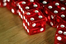 Free Dice On Wooden Table (macro) Stock Image - 81631