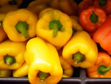 Free Yellow And Orange Peppers Royalty Free Stock Photo - 82095