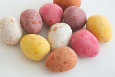 Chocolate Eggs Stock Photography