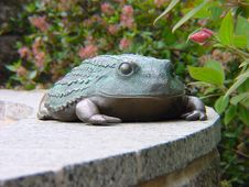 Frog Statue Royalty Free Stock Photography