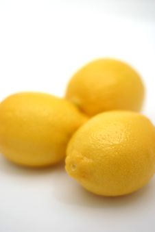 Free Three Lemons Royalty Free Stock Image - 84256