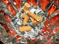 Red Ashtray Royalty Free Stock Photo