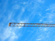 Free Crane S Gibbet On Blue Sky Stock Image - 88851