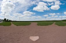 Free Baseball Field Fisheye Stock Photo - 800500