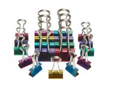 Free Colorful Paperclips Stock Photo - 800960