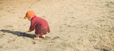 Free Boy Playing In Sand Royalty Free Stock Photos - 802588
