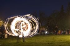Free Long Exposure Fire Dancer Stock Images - 803884
