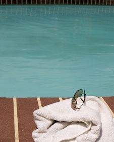 Free By The Pool Royalty Free Stock Image - 803986