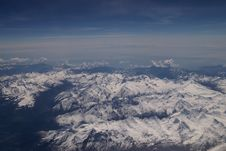 Free The Alps From Above Royalty Free Stock Image - 804766