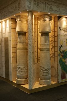 Free Egyptian Columns Stock Photography - 805912