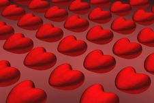 Free Hearts (background) Royalty Free Stock Photo - 807245
